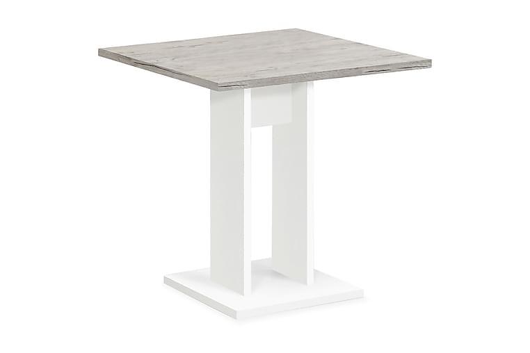 Bandol Spisebord 70 cm - Hvit/Lys Eik - Møbler - Bord - Spisebord & kjøkkenbord