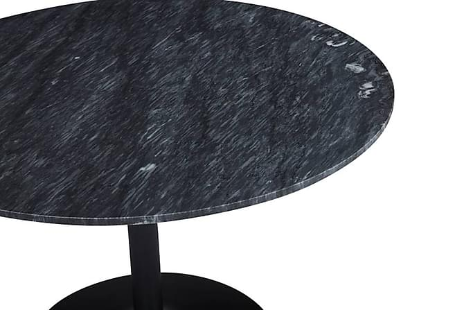 Capri Spisebord 100 cm Rundt Marmor - Svart/Grå - Møbler - Bord - Spisebord & kjøkkenbord
