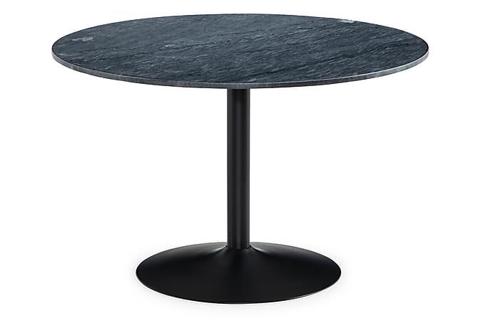 Capri Spisebord 120 cm rundt Marmor - Grå/Svart - Møbler - Bord - Spisebord & kjøkkenbord