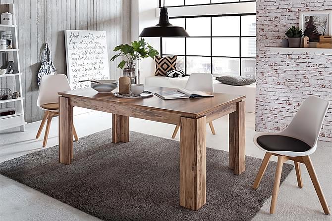 Chew Forlengningsbart Spisebord 160 cm - Valnøtt - Møbler - Bord - Spisebord & kjøkkenbord