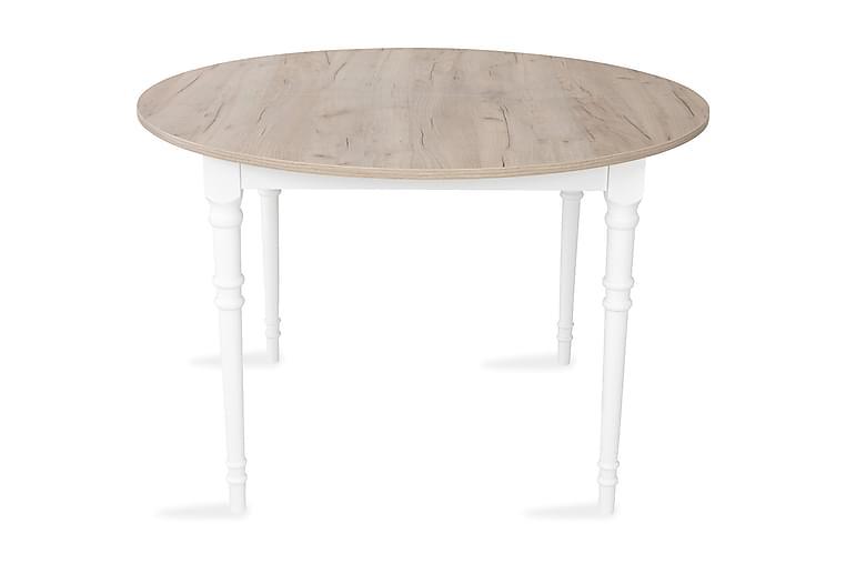 Erin Forlengningsbart Spisebord 115 cm Rundt - Grå/Hvit - Møbler - Bord - Spisebord & kjøkkenbord
