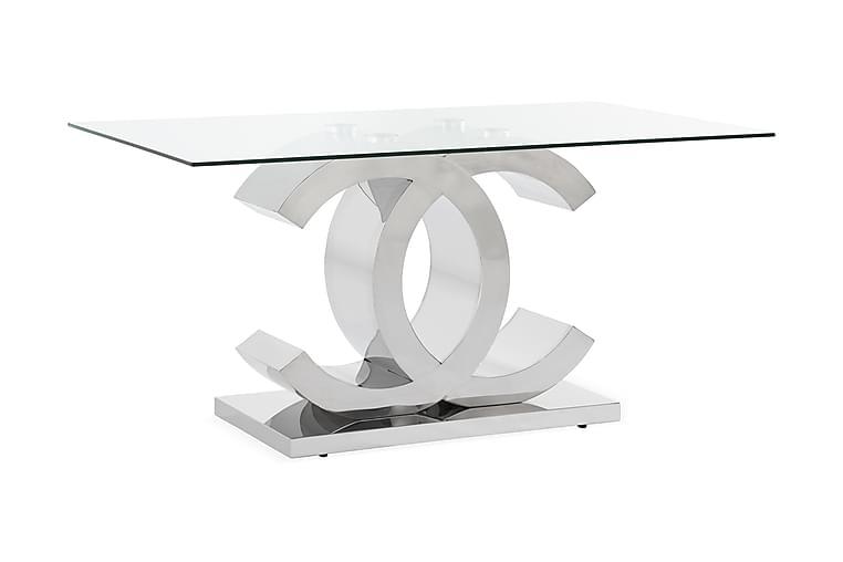 Frykman Spisebord 150 cm - Rustfritt stål /Glass - Møbler - Bord - Spisebord & kjøkkenbord