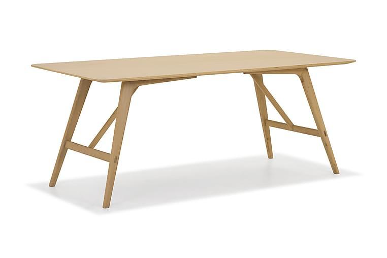 Jerup Spisebord 180 cm Massiv Eik - Brun - Møbler - Bord - Spisebord & kjøkkenbord