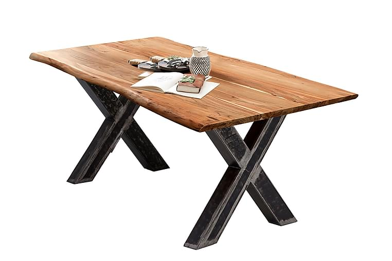 Laikera Spisebord 180x100 cm - Akacia/Sølv - Møbler - Bord - Spisebord & kjøkkenbord