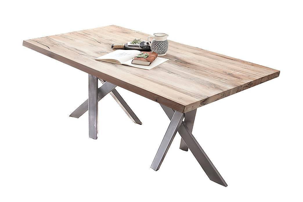 Laikera Spisebord 180x100 cm - Hvit/Sølv - Møbler - Bord - Spisebord & kjøkkenbord