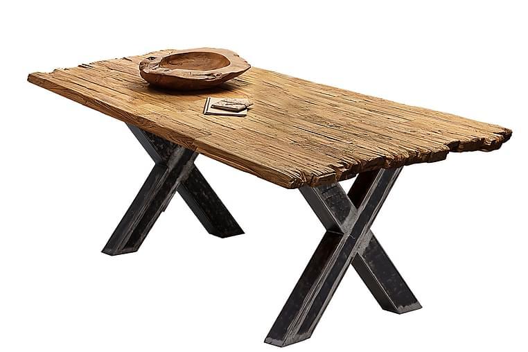 Laikera Spisebord 180x100 cm - Resirkulert Teak/Sølv - Møbler - Bord - Spisebord & kjøkkenbord