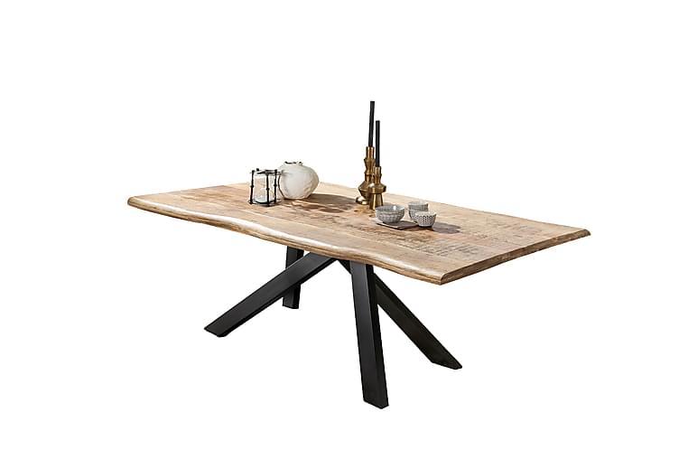 Laikera Spisebord 200x100 cm - Mango/Natur/Svart - Møbler - Bord - Spisebord & kjøkkenbord