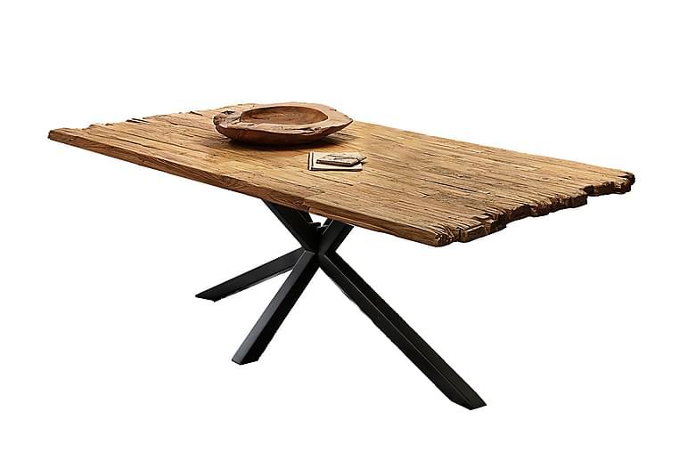 Laikera Spisebord 200x100 cm - Resirkulert Teak/Svart - Møbler - Bord - Spisebord & kjøkkenbord