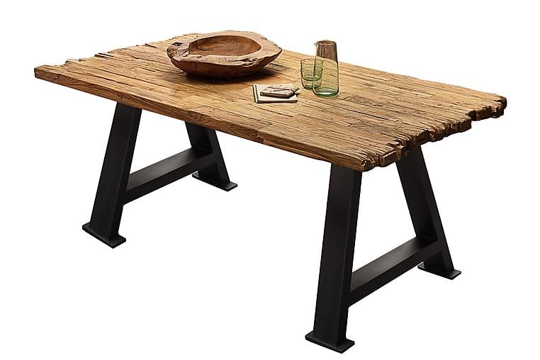 Laikera Spisebord 200x100 cm - Teak/Svart - Møbler - Bord - Spisebord & kjøkkenbord