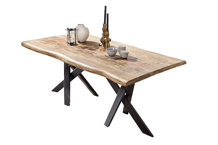 Laikera Spisebord 220 cm - Mango/Natur/Svart - Møbler - Bord - Spisebord & kjøkkenbord