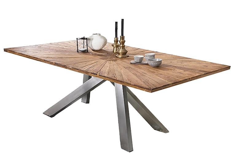 Laikera Spisebord 220 cm - Resirkulert Teak/Sølv - Møbler - Bord - Spisebord & kjøkkenbord