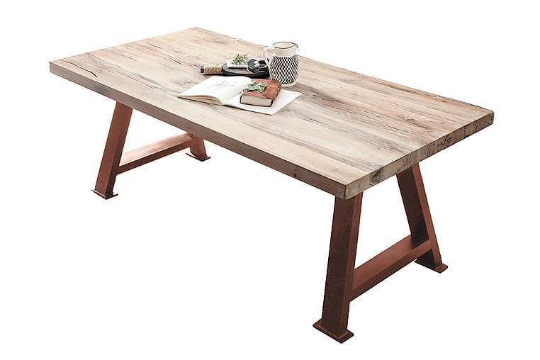 Laikera Spisebord 240 cm - Hvit/Brun - Møbler - Bord - Spisebord & kjøkkenbord