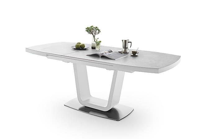Leandro Spisebord 180 cm - Hvit/Grå - Møbler - Bord - Spisebord & kjøkkenbord
