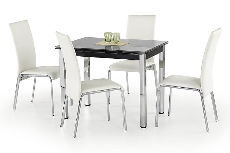 Logan Forlengningsbart Spisebord 96 cm Glass - Svart - Møbler - Bord - Spisebord & kjøkkenbord