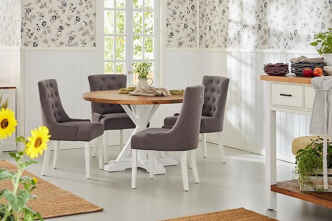 Lyon Spisebord 120 cm Rund - Natur/Hvit - Møbler - Bord - Spisebord & kjøkkenbord