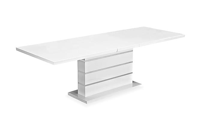 Malibu Forlengningsbart Spisebord 200 cm - Hvit - Møbler - Bord - Spisebord & kjøkkenbord