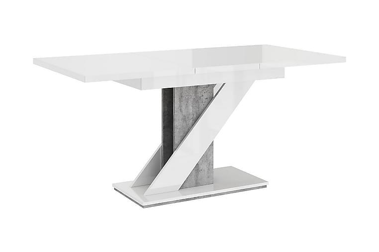 Meva Spisebord 160 cm - Hvit - Møbler - Bord - Spisebord & kjøkkenbord