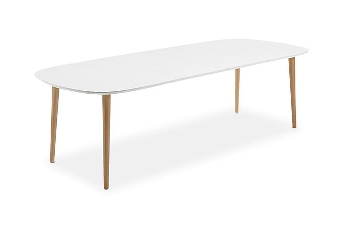 Oakland Forlengningsbart Spisebord 160 cm Ovalt - Hvit - Møbler - Bord - Spisebord & kjøkkenbord