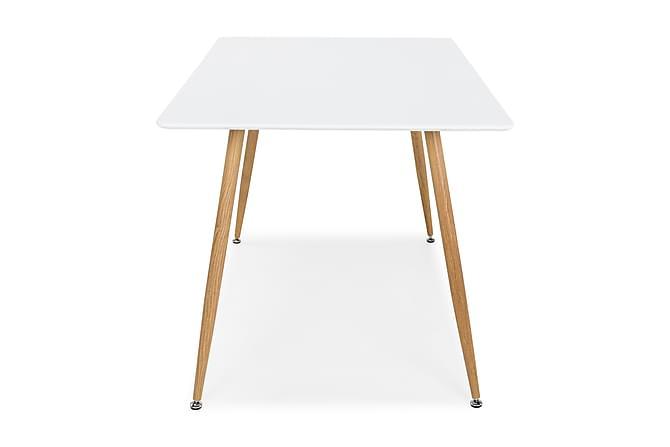 Pontus Spisebord 120 cm - Hvit/Eik - Møbler - Bord - Spisebord & kjøkkenbord