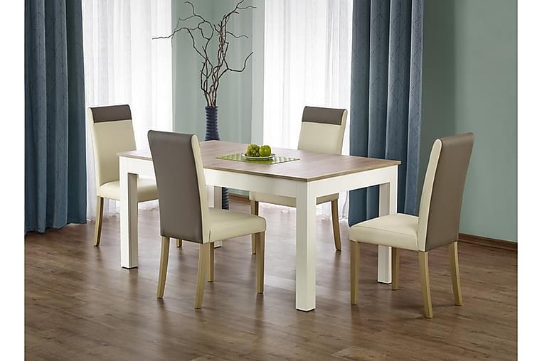 Seweryn Forlengningsbart Spisebord 160 cm - Eik/Hvit - Møbler - Bord - Spisebord & kjøkkenbord