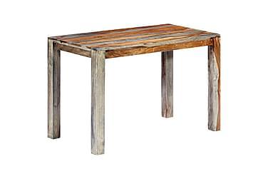 Spisebord grå 118x60x76 cm heltre indisk rosentre