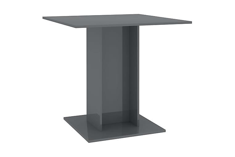 Spisebord høyglans grå 80x80x75 cm sponplate - Grå - Møbler - Bord - Spisebord & kjøkkenbord