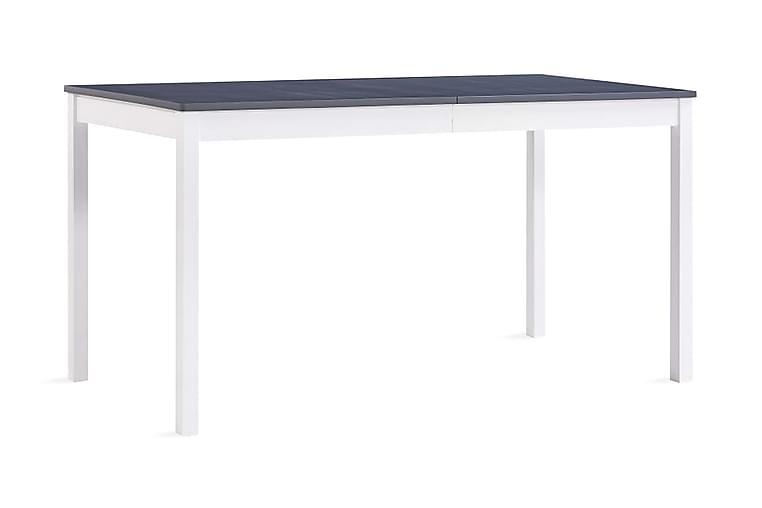 Spisebord hvit og grå 140x70x73 cm furu - Grå - Møbler - Bord - Spisebord & kjøkkenbord
