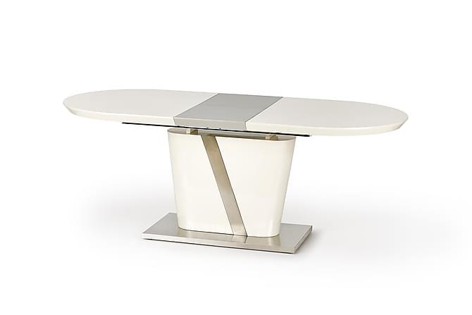 Steltzer Forlengningsbart Spisebord 160 cm - Hvit/Krom - Møbler - Bord - Spisebord & kjøkkenbord