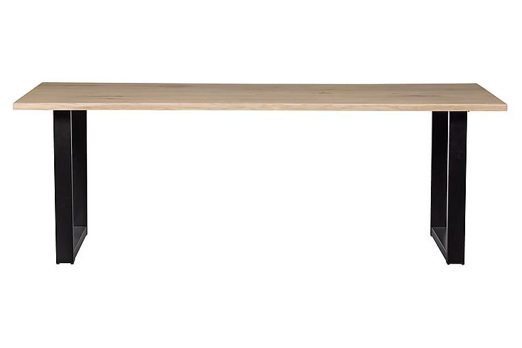 Tablo Spisebord U-Formede Ben 220 cm - Eik/Svart - Møbler - Bord - Spisebord & kjøkkenbord