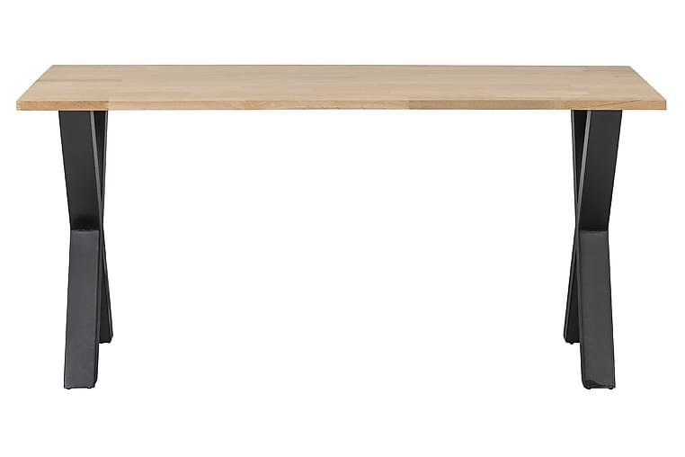 Tablo Spisebord X-Formede Ben 160 cm Ubehandlet - Eik/Svart - Møbler - Bord - Spisebord & kjøkkenbord