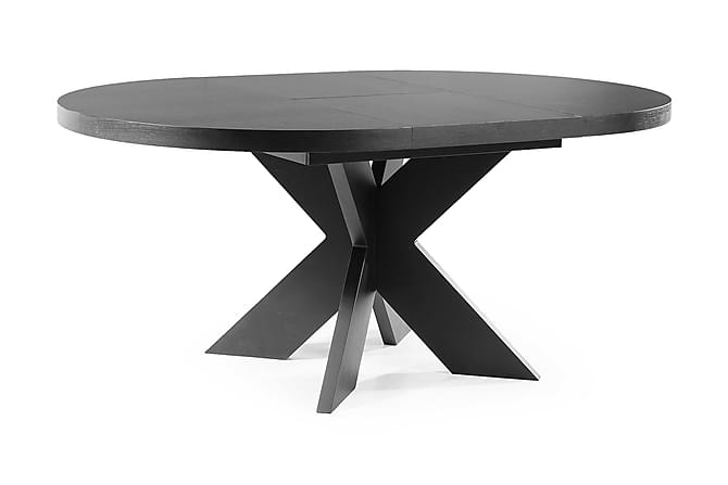 Telma Forlengningsbart Spisebord 120 cm Rundt - Svart - Møbler - Bord - Spisebord & kjøkkenbord