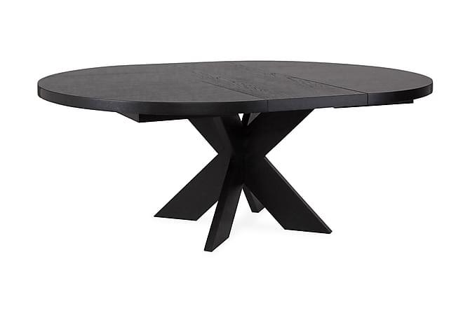Telma Forlengningsbart Spisebord 140 cm Rundt - Svart - Møbler - Bord - Spisebord & kjøkkenbord