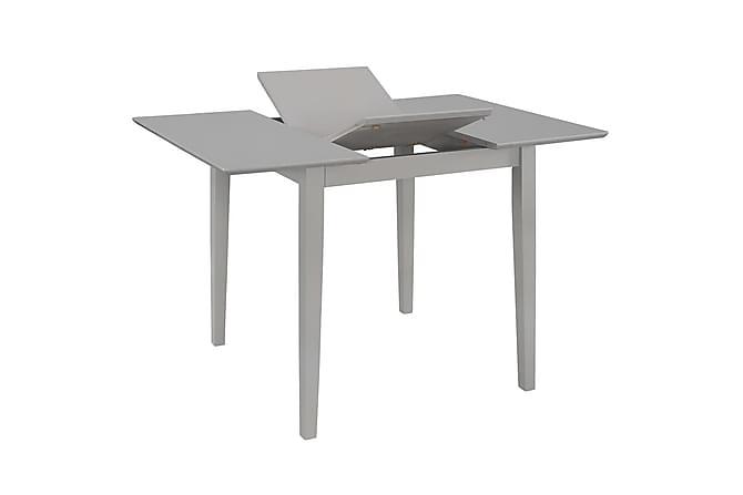 Uttrekkbart spisebord grå (80-120)x80x74 cm MDF - Møbler - Bord - Spisebord & kjøkkenbord