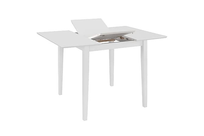 Uttrekkbart spisebord hvit (80-120)x80x74 cm MDF - Møbler - Bord - Spisebord & kjøkkenbord