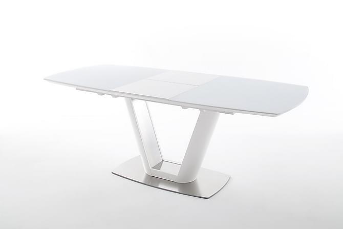Vanita Forlengningsbart Spisebord 160 cm - Hvit - Møbler - Bord - Spisebord & kjøkkenbord