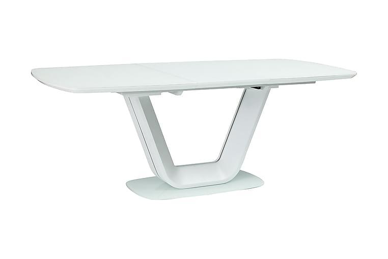 Ventera Forlengningsbart Spisebord 160 cm - Glass/Hvit - Møbler - Bord - Spisebord & kjøkkenbord