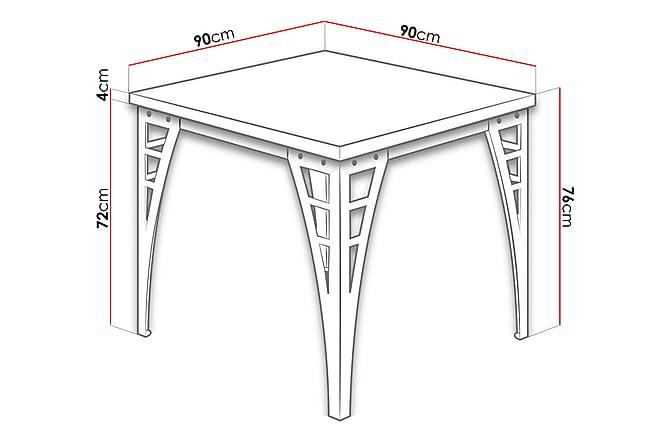 Thair Bord 90 cm - tre/Natur/Svart - Møbler - Bord
