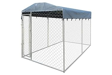 Hundegård med baldakintopp 4x2 m