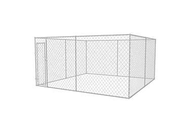 Utendørs hundegård 4x4 m
