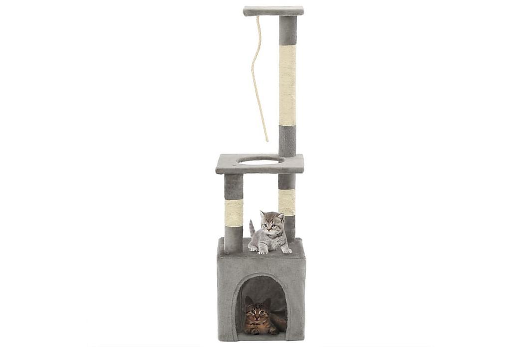 Kloretre med klorestolper i sisal 109 cm grå - Grå - Møbler - Husdyrmøbler - Kattemøbler