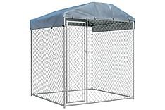 Koiran ulkohäkki suojakatoksella 2x2x2,1 m