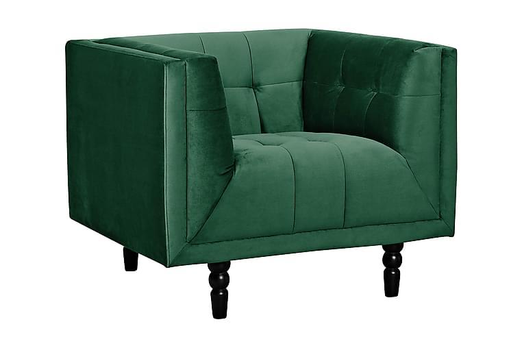 Sofie Lenestol - Mørkegrønn Fløyel - Møbler - Lenestoler - Chesterfield lenestol