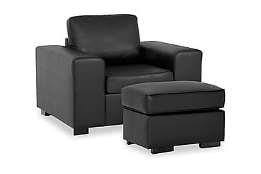 Connect Sofagruppe Lenstol+Fotskammel 70 cm Økolær