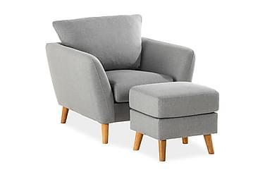 Trend Sofagruppe Lenestol med Fotskammel