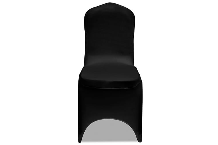 Stoltrekk elastisk svart 24 stk - Møbler - Møbelpleie - Møbeltrekk