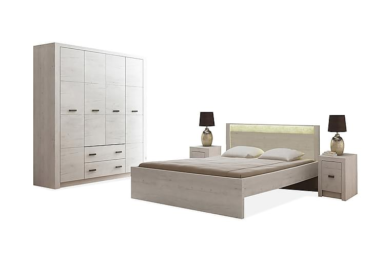 Indianapolis Møbelsett Soverom - Hvit LED-belysning - Møbler - Møbelsett - Møbelsett til soverom