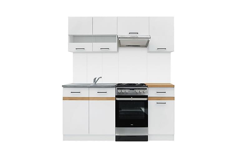 Junona Kjøkkenmøbelsett - Hvit|Eik - Møbler - Møbelsett - Møbelsett til kjøkken & spiseplass