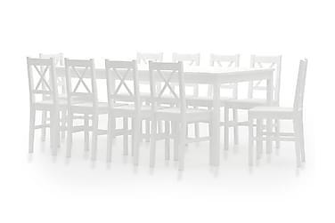Spisestue 11 deler furu hvit