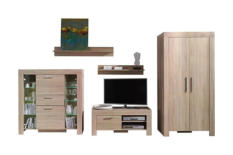 Cezar Mediamøbler - Beige - Møbler - Møbelsett - Møbelsett til stue