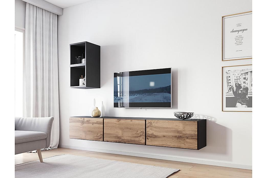 Roco Mediamøbler - Beige / Grå /  Hvit - Møbler - Møbelsett - Møbelsett til stue